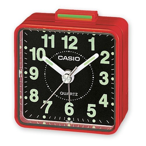 Casio TQ140 Travel Alarm Clock - Red Clock Radios by CASIO