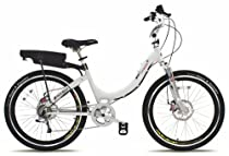 Prodeco V3 Stride R 8 Speed Electric Bicycle, Pure White Gloss, 26-Inch/One Size