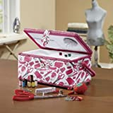 Home-X Sewing Basket with 126 Sewing Kit Accessories