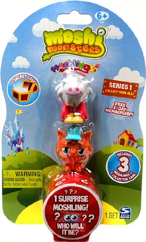 Moshi Monsters Moshlings Mini Figures - Series 1 - Pack of 3 Figures (w/ 1 code) - 1