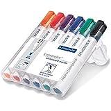 Staedtler Lumocolor Whiteboard Marker 351WP6 Bullet Tip - Assorted Colours (Pack of 6)