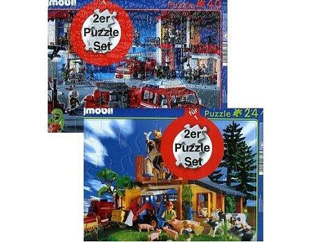 Schmidt Spiele 55665 – Rahmenpuzzle Playmobil, 2er Set, 24/40 Teile online bestellen