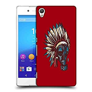 Snoogg Advasi Mask Designer Protective Back Case Cover For SONY Z4 COMPACT