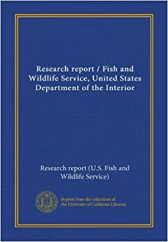 Research Report Fish And Wildlife Service United States