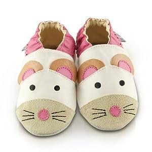 Snuggle Feet - Suaves Zapatos De Cuero Del Bebé ratón de Snuggle Feet - BebeHogar.com
