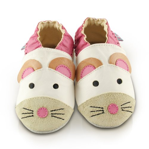 Snuggle Feet Cute Mouse Soft Leather Baby Shoes | 6-12 months