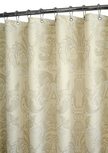 Park B Smith Cambrai Watershed Shower Curtain Taupe