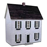 Real Good Toys Real Good Toys Colonial Dollhouse Kit - 1/2 Inch Scale, Green, Medium Density Fiberboard