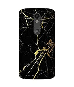 Black And Gold Motorola Moto X Force Case