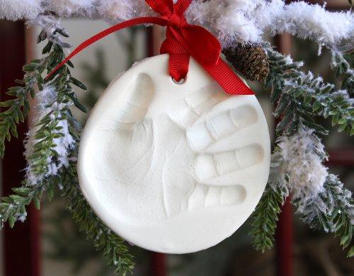 Child to Cherish Marshmallow Clay Handprint Ornament