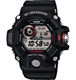 """Casio Mens GW-9400-1CR """"Master of G"""" Stainless Steel Solar Watch"""
