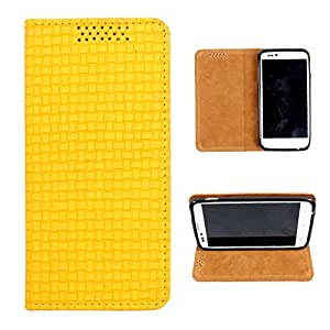 i-KitPit PU Leather Flip Case For Karbonn A9+ (YELLOW)