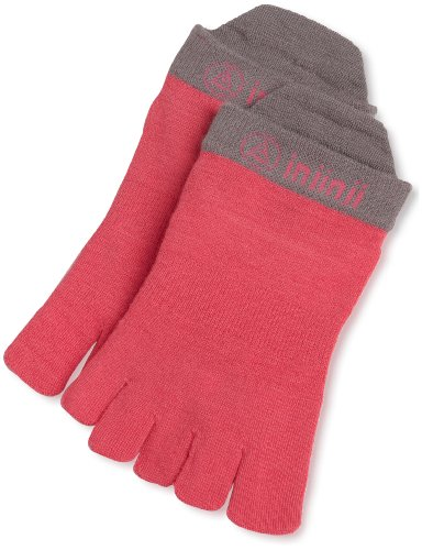 Injinji Injinji Women's Performance Lightweight No-Show Sock, Canyon Pink, Small