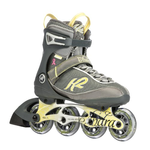 K2 Sports Women's Andra Fitness 2012 Inline Skates (Silver/Yellow, 8.5)