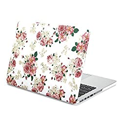 Gmyle Hard Case Print Frosted (Floral Pattern) for 13 inch Macbook Pro with Retina Display - Floral Rose