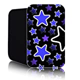 STARS Pattern [BLUE] for Nokia Lumia 820 (L) Shock Resistant Neoprene Slip Pouch (Case, Cover)