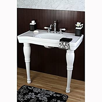 Imperial Vintage 36-inch Wall-mount Pedestal 8-inch Center Modern Bathroom Sink Vanity