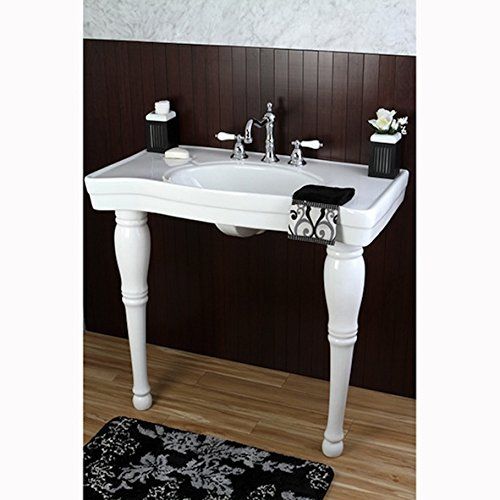 Imperial Vintage 36-inch Wall-mount Pedestal 8-inch Center Modern Bathroom Sink Vanity