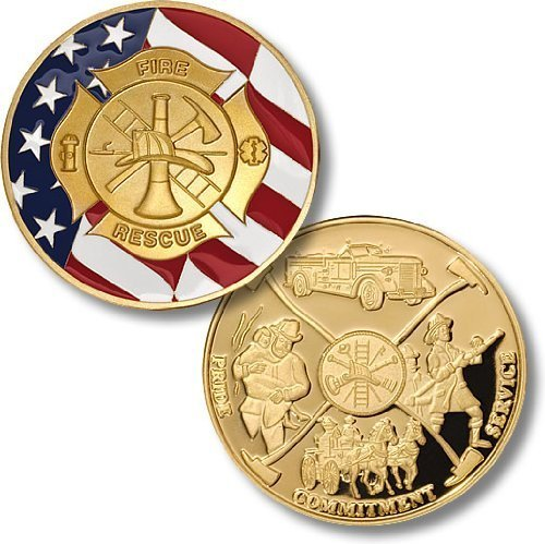 Maltese Cross with Flag Challenge Coin