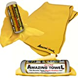 "The Amazing Drying Towel Size 27""x17"" - The Best Super Absorbent Fast Drying Towel That Beats Microfiber Shammwow Chamois Shammy Cleaning Drying Cloths Hands Down! Great For Pets Cars Boats Kitchen and more - 6 Months No Questions Guarantee!"