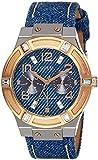 Guess  Ladies Sport - Reloj de cuarzo para mujer, con correa de cuero, color azul