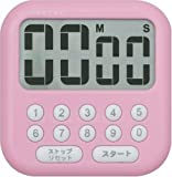 DRETEC 大画面タイマー 「シャボン10」 ピンク T-194PK