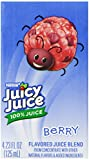 Juicy Juice 100% Juice, Berry, 8-Count/4.23-Ounce Boxes (Pack of 5)