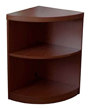 19 in. Corner Bookcase with 2 Shelves