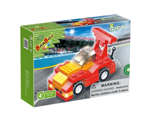 BanBao F1 Racing Building Set, Red, 54-Piece - 1
