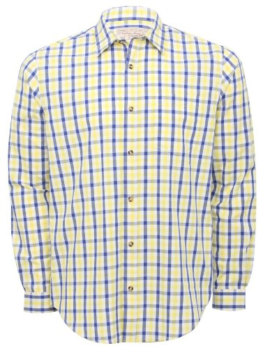 Mens long sleeved casual summer gingham shirt Multicolour XL