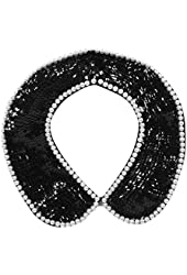 Simplicity Crystal Beads Necklace Faux False Collar Women Lady Costume Accessory