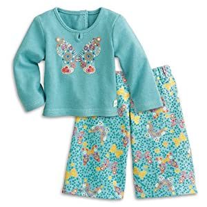 American Girl My AG Butterfly Garden Pajamas for Dolls + Charm
