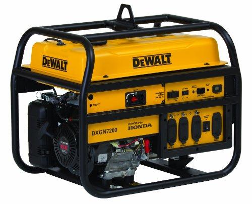 Dewalt 7200 Watt Commercial Generator, Recoil/Electric Start With Honda Gx340 Engine