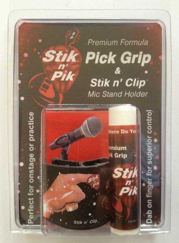Stik N' Clip Includes Stik N' Pik Premium Guitar Pick Grip And Microphone Stand Holder