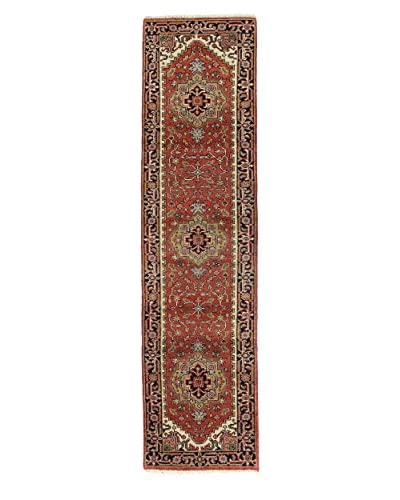 Bashian Hand-Knotted Indo Herez One-of-a-Kind Rug, Rust, 2' 6 x 9' 9 Runner
