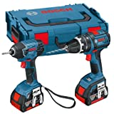Bosch GSB18V-LI 18V Li-Ion Cordless Dynamicseries Combi Drill/ Impact Driver with 2 x 4Ah Batteries