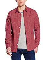 New Caro Camisa Hombre Clementi (Rojo)