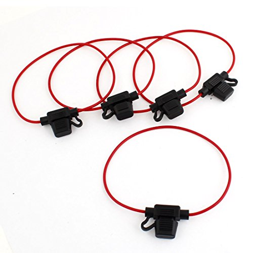 uxcell® 5 Pcs 32V 30A Mini ATC Blade Fuse Holder Container (Blade Fuse Holder compare prices)