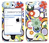 ITALKonline POTPURI FLOWERS DESIGN SnapGuard Armour HYBRID Protection Clip On Case/Cover/Skin & Screen Protector For Apple iPod Touch 4 4G (4th Generation) 8GB, 32GB, 64GB