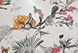 Roops Décor Wallpaper (Vinyl, 32 feet X 21 inches, White and Black)