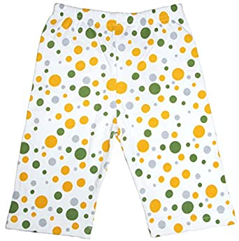 GOTS Certified Organic Cotton Clothing Baby Pants (Dots, 0-3m)