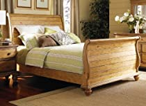 "Hot Sale Hamptons Queen Sleigh Bed Set (Weathered Pine) (58""H x 65.25""W x 95.3""D)"