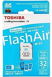 TOSHIBA FlashAir SDHC CL10 32GB Wifi Card