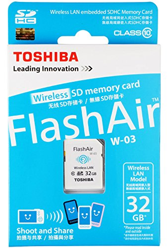 32GB Toshiba FlashAir W-03 Wi-Fi Wireless LAN SD Card SDHC CL10 (Sd Toshiba Wi Fi compare prices)