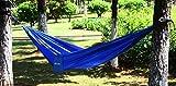 Ohuhu Portable Nylon Fabric Travel Camping Hammock, 115″ Long X 55″ Wide, 600-Pound Capacity
