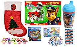 Christmas Paw Patrol Gift Set with Smarties and Crack-ups Candies (18 Pieces)