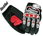Typhoon Youth Kids Motocross Motorcycle Offroad BMX MX ATV Dirt Bike Gloves - Black / Red - Small