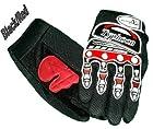 Typhoon Youth Kids Motocross Motorcycle Offroad BMX MX ATV Dirt Bike Gloves - Black / Red - Medium
