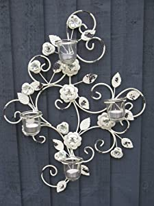 Vintage Style Cream Wall Art Sconce