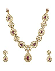 Ashapura Gold Plated Necklace With Dangle & Drop Earrings For Women - N0308